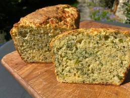 Cheddar and Green Chilli Cornbread Daffodil Soup