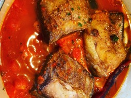 A slow-cooked stew of beef short rib in a tomato sauce with Oloroso sherry
