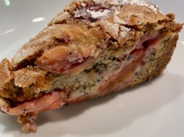 Plum and poppyseed cake