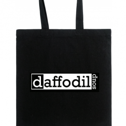 Organic recycled cotton tote bag with Daffodil Soup logo